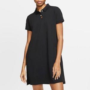 Nike Womens Polo Dress Black S NWT $100